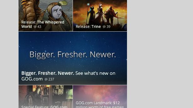 GOG's Bigger Fresher Newer plans