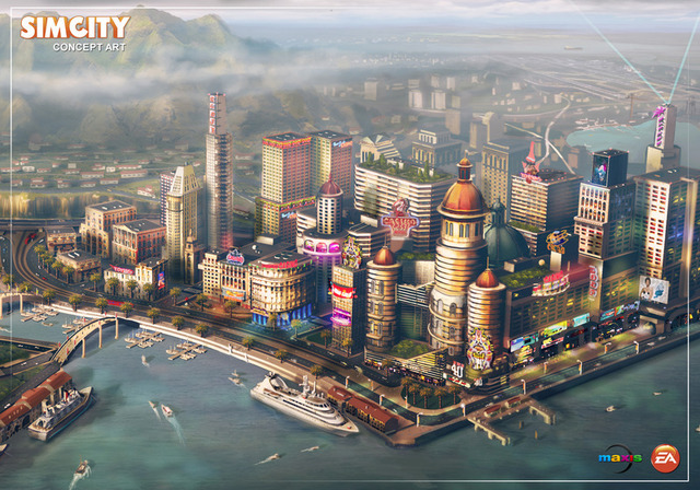 Concept art for the new SimCity