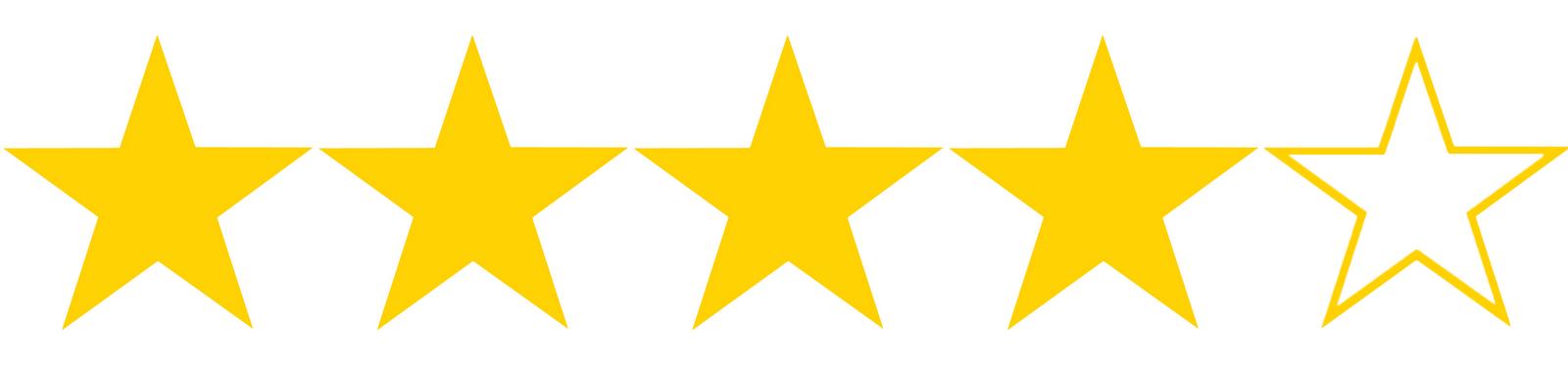 Resultado de imagen de rating 4 estrellas