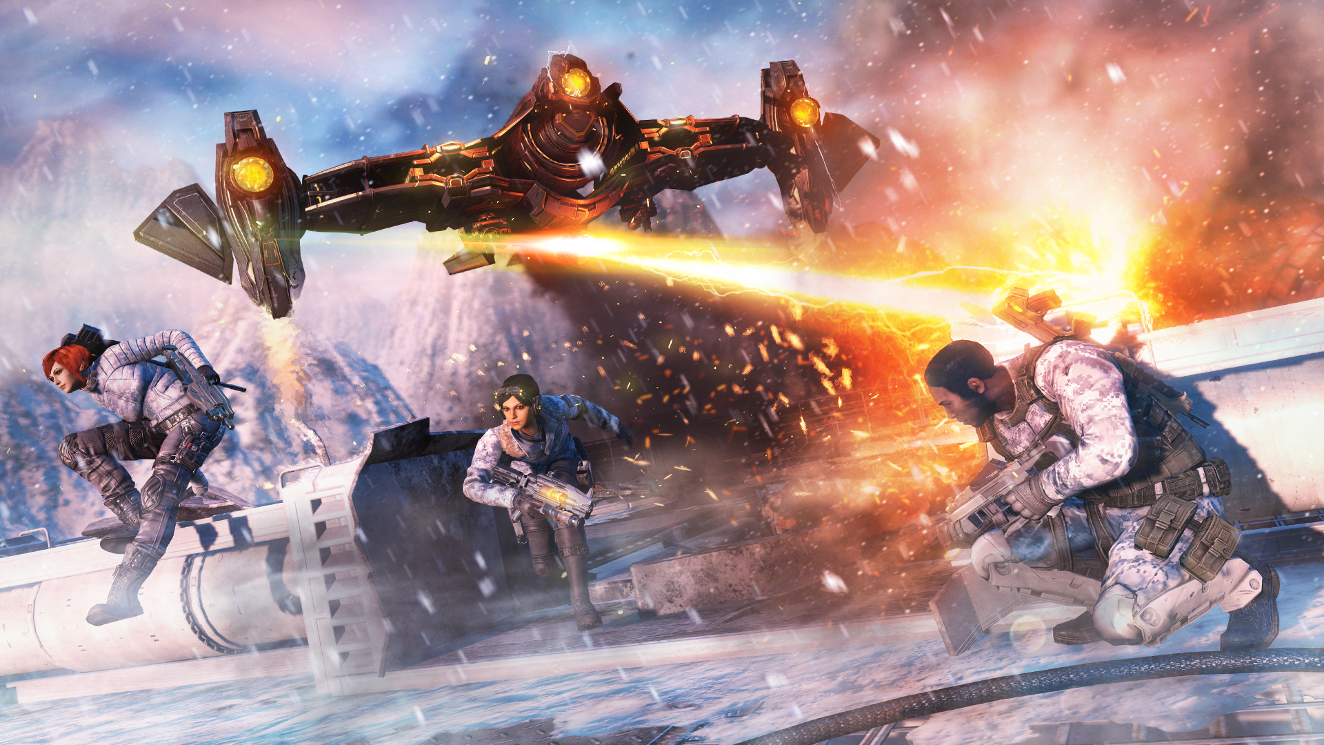 fuse xbox 360 game preview: fuse - rocket chainsaw