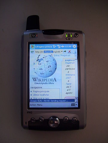 For the young'uns, this is a Pocket PC.