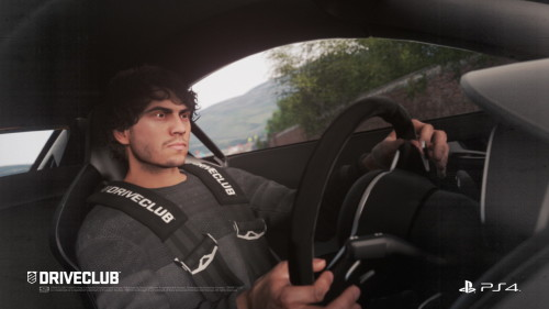 Serious driving face.
