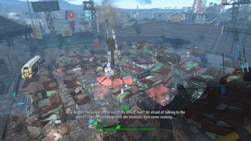 fallout 4 how to leave the institute without fast travel