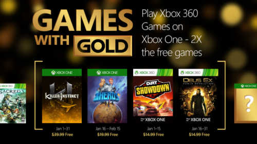 games with gold january 2016