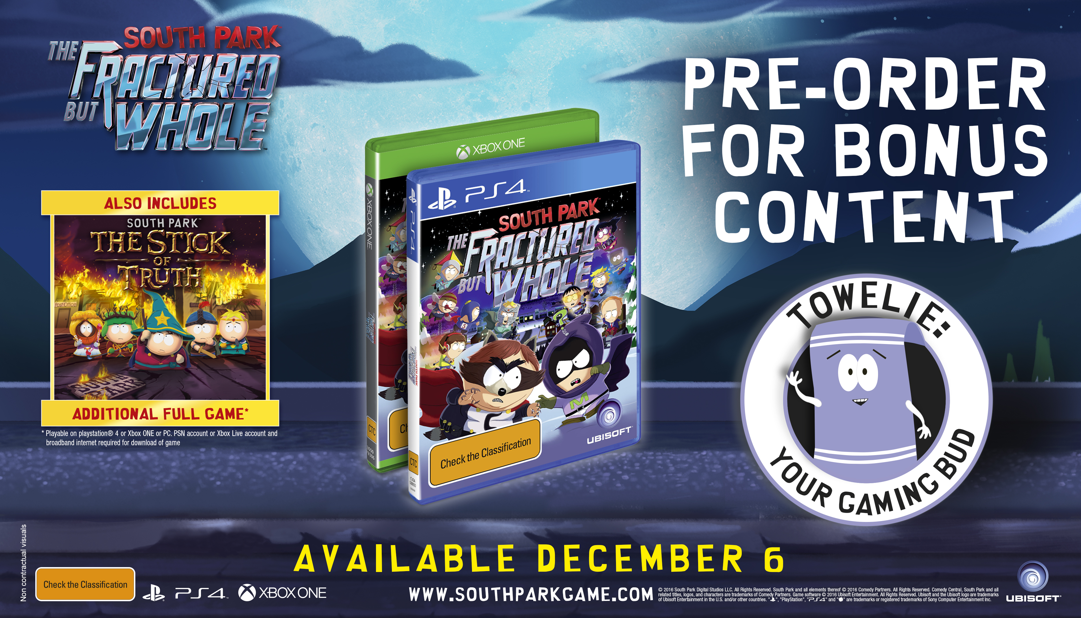 SPFBW mock preorder e3 160613 230pm ANZ 1465857023 E3 2016: South Park: The Fractured But Whole Dated