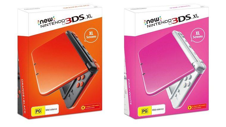3DS XL Pink and Orange