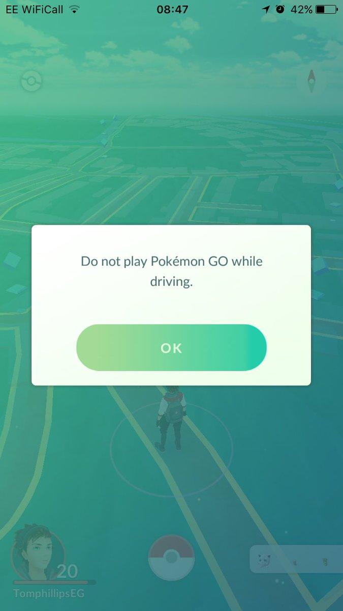 Pokemon Go Do Not drive