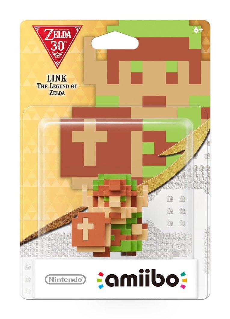 8 Bit Link amiibo Nintendo celebrate Zelda's 30th anniversary