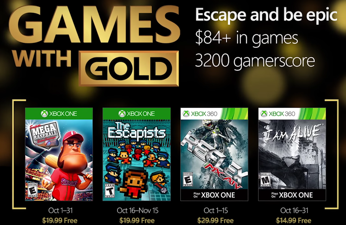 Games With Gold - October 2016