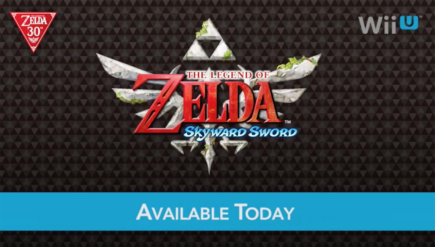 Skyward Sword Wii U Nintendo celebrate Zelda's 30th anniversary