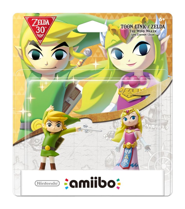 Toon Link and Toon Zelda Amiibo Nintendo celebrate Zelda's 30th anniversary