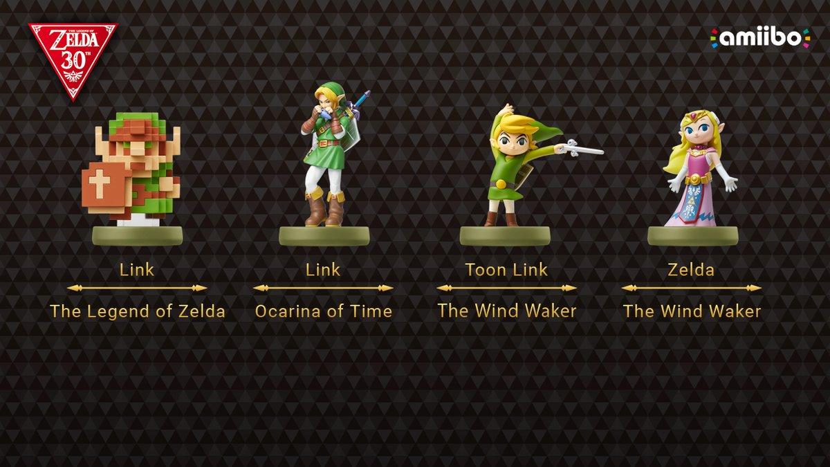 Zelda amiibo Nintendo celebrate Zelda's 30th anniversary