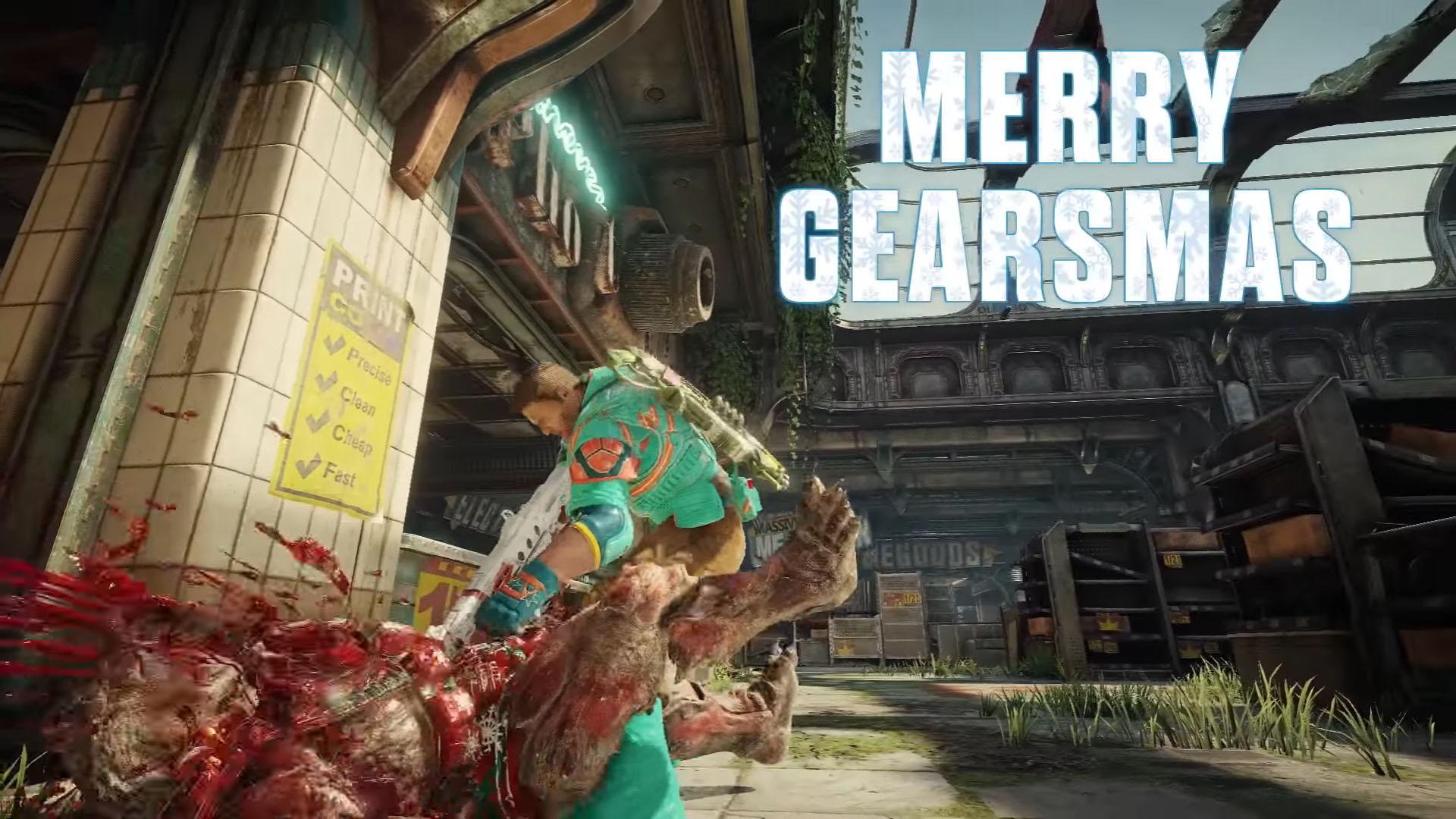 Gears of War 4 Gearsmas 2 Merry Gearsmas from The Coalition   Gears of War 4 Gearsmas Items Revealed