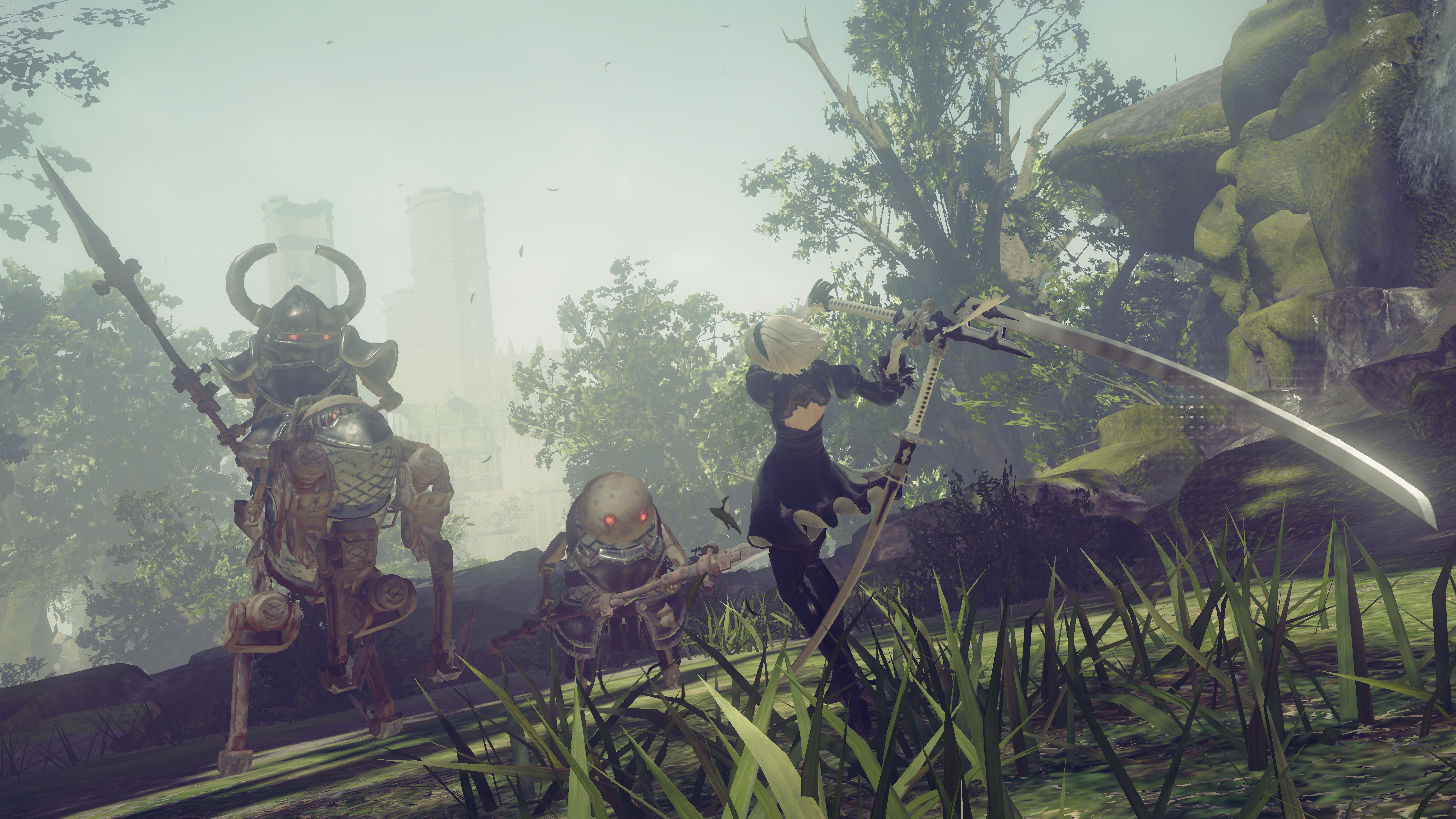 Nier Screenshot Online 2 Forest enemies 03 F 03 1486122828.02.2017 Nier: Automata Hands On Preview