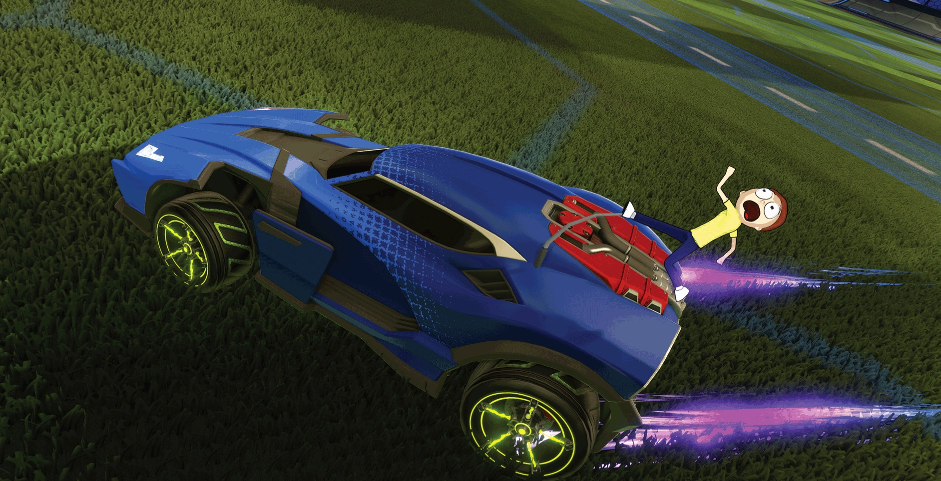 Free Rick and Morty Rocket League update