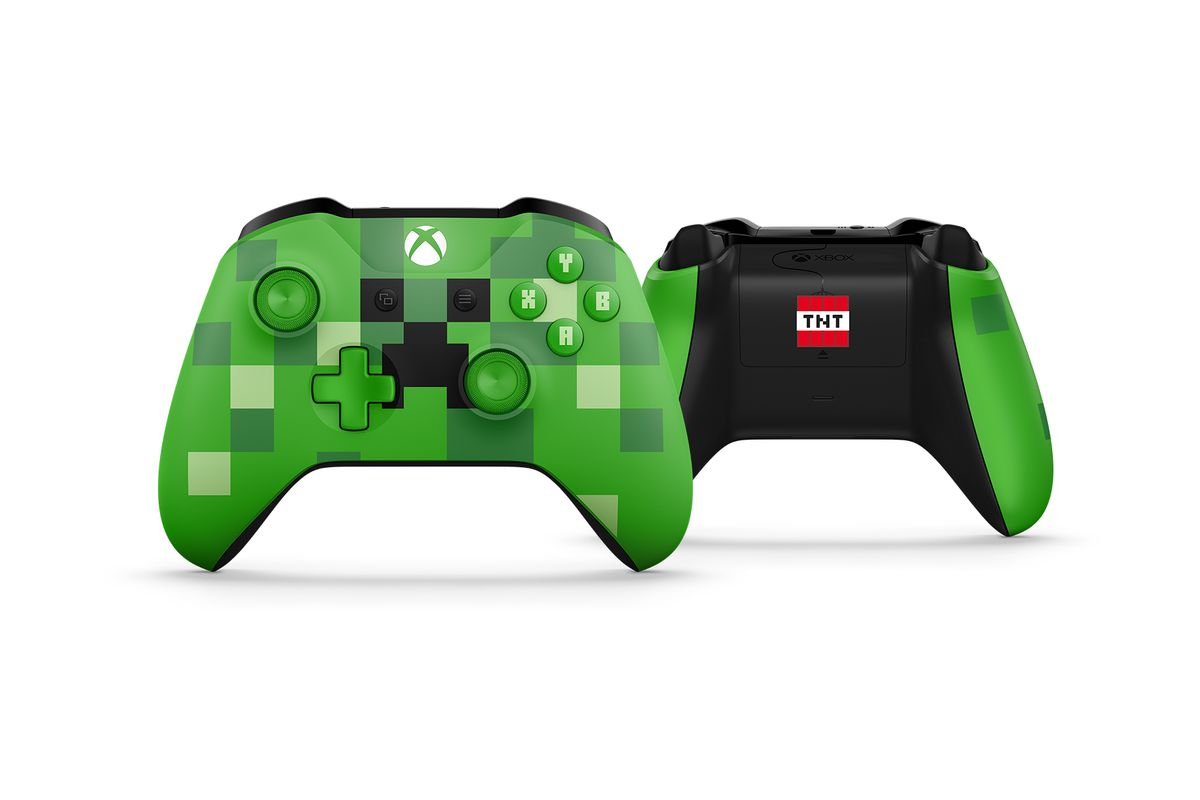 Minecraft themed xbox one s bundle and controllers for Mine craft for xbox