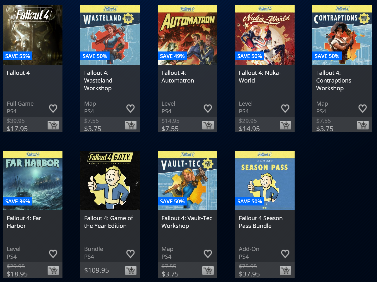 PlayStation Store Halloween Sale Fallout 4