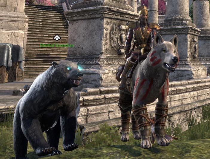 Elder Scrolls Online Ice Wolf