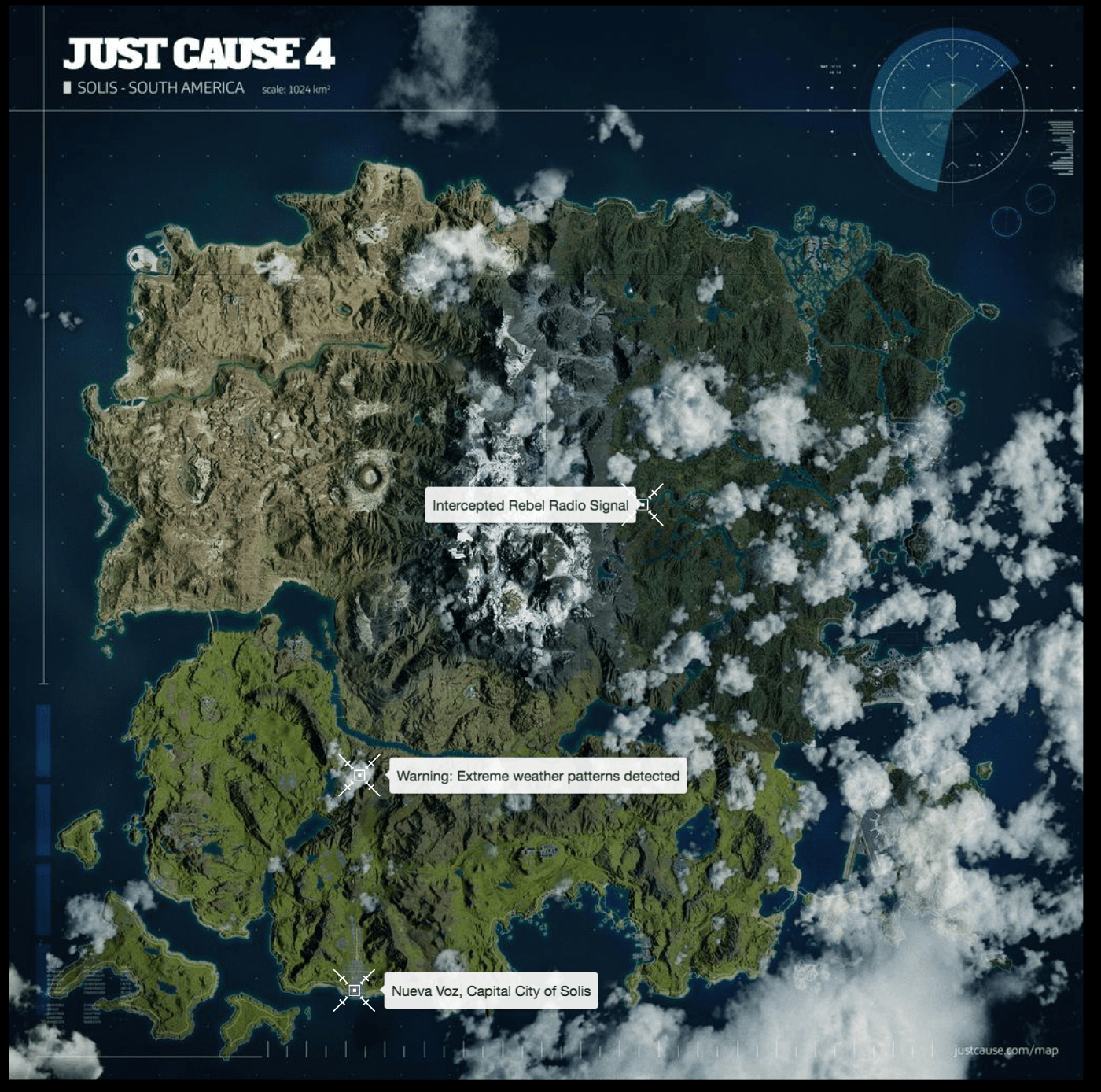 Interactive Just Cause 4 Map