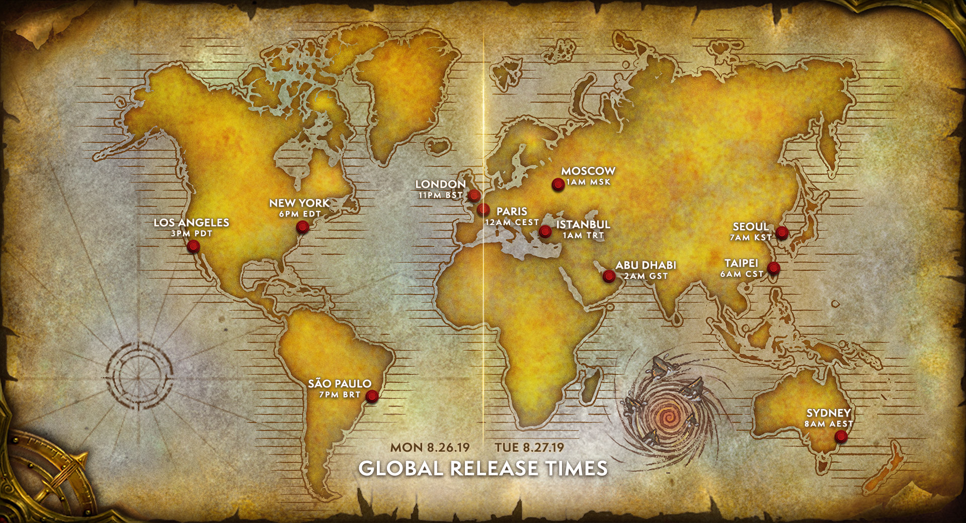 WoW Classic Release Map