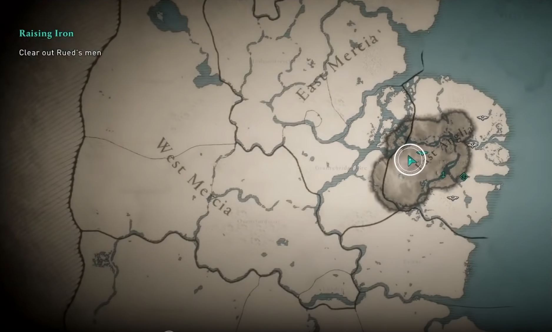 New Hd Assassin S Creed Valhalla Map Reveals Two Kingdoms Rocket