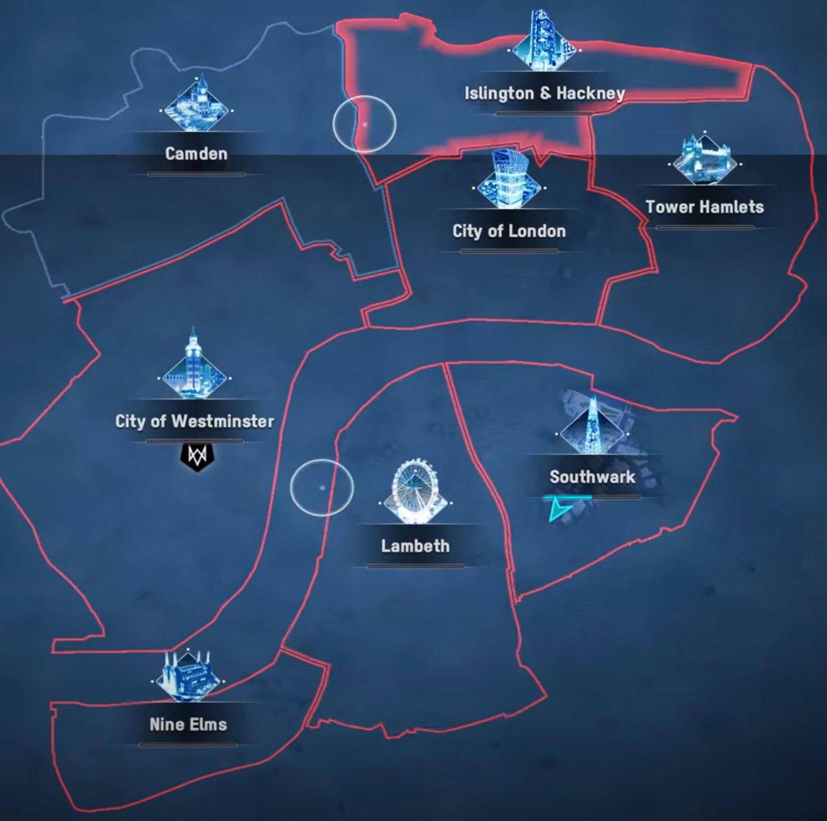Watch Dogs Legion Map